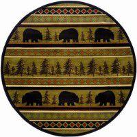 Bear Forest Round Rug