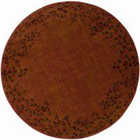 Claret Tiny Branches Round Rug