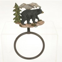 Mountain Bear Towel Ring Hook