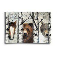 Woodland Trio Wildlife Wall Hanging