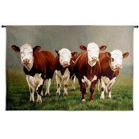 Fab Four Cow Wall Tapestry