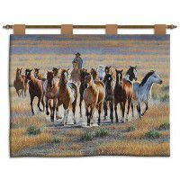 Bringing Them In Western Horse Wall Hanging