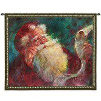 Santas List Christmas Wall Tapestry