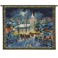 Midnight Clear Christmas Wall Tapestry