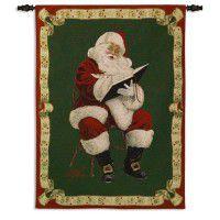 Santas Notes Christmas Wall Tapestry