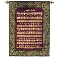 Jingle Bells Christmas Wall Tapestry