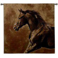 Westward Gallop Horse Wall Tapestry