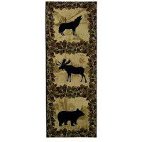 Lodge Wildlife Silhouette Wall Hanging