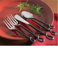 5 Piece Forged Loop Flatware Set