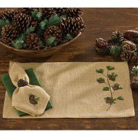 Burlap and Pine Table Linens