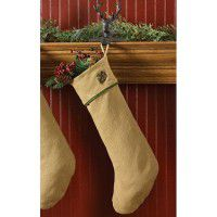 Burlap and Pine Stocking