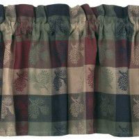 High Country Pine Cone Valance