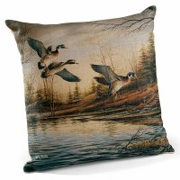 "Backwoods Cabin-Wood Ducks 18"" Decorative Pillow -CLEARANCE"