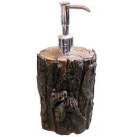 Pine Log Soap or Lotion Dispenser