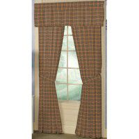 Golden Brown Plaid Curtains