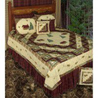 Forest Log Cabin Quilt Sets