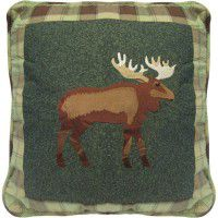 Evergreen Moose Pillow