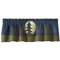 Bear Dance Pine Tree Valance/Runner