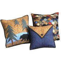 Midnight Bear Pillow Set