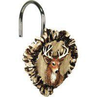 Antler & Deer Shower Curtain Hooks