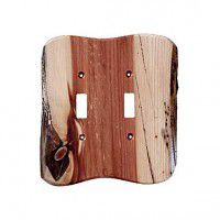 Rustic Double Toggle Switch Plate (3 wood options)