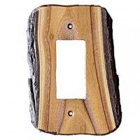 Rustic Single Rocker Switch Plate (3 wood options)