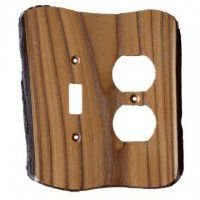 Rustic Double-Gang Toggle/Duplex Plate Cover (3 wood options)