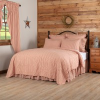 Sawyer Mill Red Stripe Quilt Set- Queen -Clearance