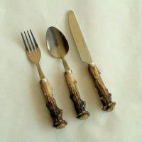 3 Piece Faux Antler Flatware