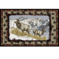 Ridgeline Elk Area Rug