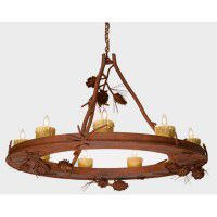 Steel Creek Pine Cone Chandelier