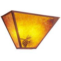 Tapered Mission Pine Cone Sconce