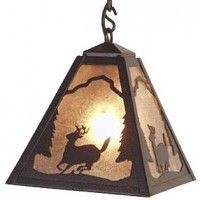 Timber Ridge Deer Pendant Light
