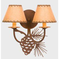 Pine Cone Double Wall Lamp