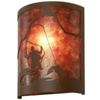 Timber Ridge Fly Fisherman Sconce