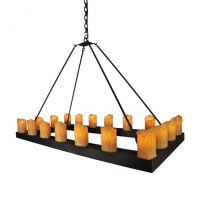 Rectangle Candle Chandelier