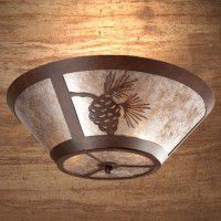 Pine Cone Round Ceiling Light