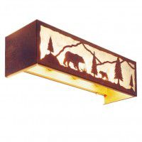 Timber Ridge Bear Vanity Light