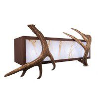 Double Antler Vanity Light