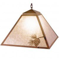 Rustic Pinecone Swag Pendant Light