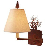 Pine Cone Swing Arm Wall Lamp