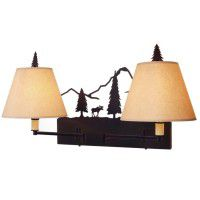 Timber Ridge Moose Double Swing Arm Wall Lamp