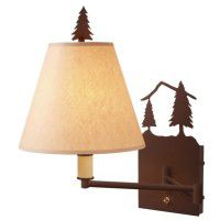 Timber Ridge Pine Tree Swing Arm Wall Lamp