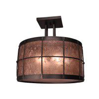 Ferron Forge 4 Post Semi Flush Ceiling Light