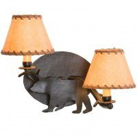 Timber Sconce - Bear