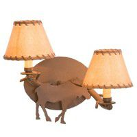 Timber Sconce - Moose