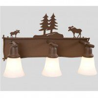 Moose Glacier Triple Vanity Light