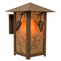 Ridge Top Outdoor Pine Cone Sconce