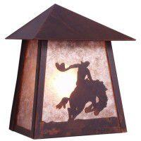 8 Seconds Tri Roof Cowboy Dark Sky Sconce