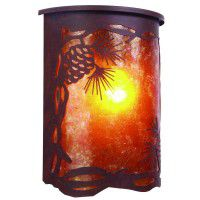 Timber Ridge Pine Cone Dark Sky Sconce